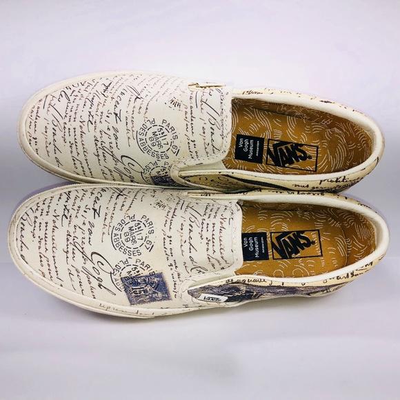 1e1320fbbcff1b Vans Classic Slip On Vincent Van Gogh Letter Shoes